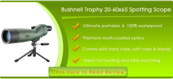 Bushnell Trophy 20-60x65 Waterproof Spotting Scope (Green)